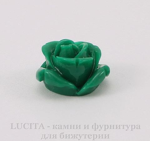 """Кабошон акриловый """"Роза"""", цвет - зеленый, 18 мм"""