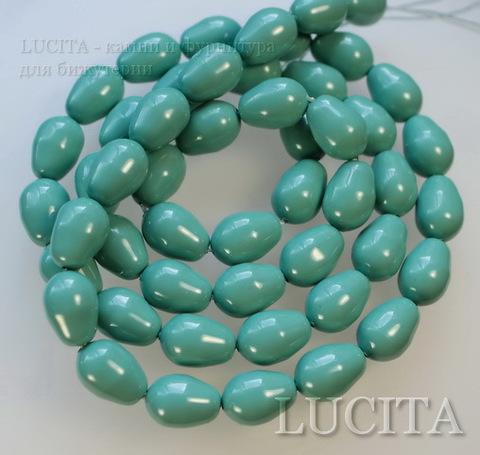 5821 Хрустальный жемчуг Сваровски Crystal Jade грушевидный 11х8 мм