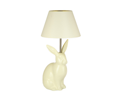 Элитная лампа настольная Алиджо Кролик кремовая от Sporvil
