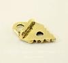 "Концевик для плоского шнура TierraCast ""Листик"" (цвет-античное золото) 19х11,5 мм"