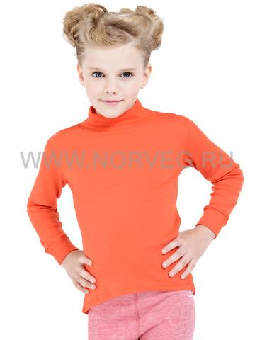 Терморубашка Norveg Soft City Style детская с длинным рукавом оранжевая