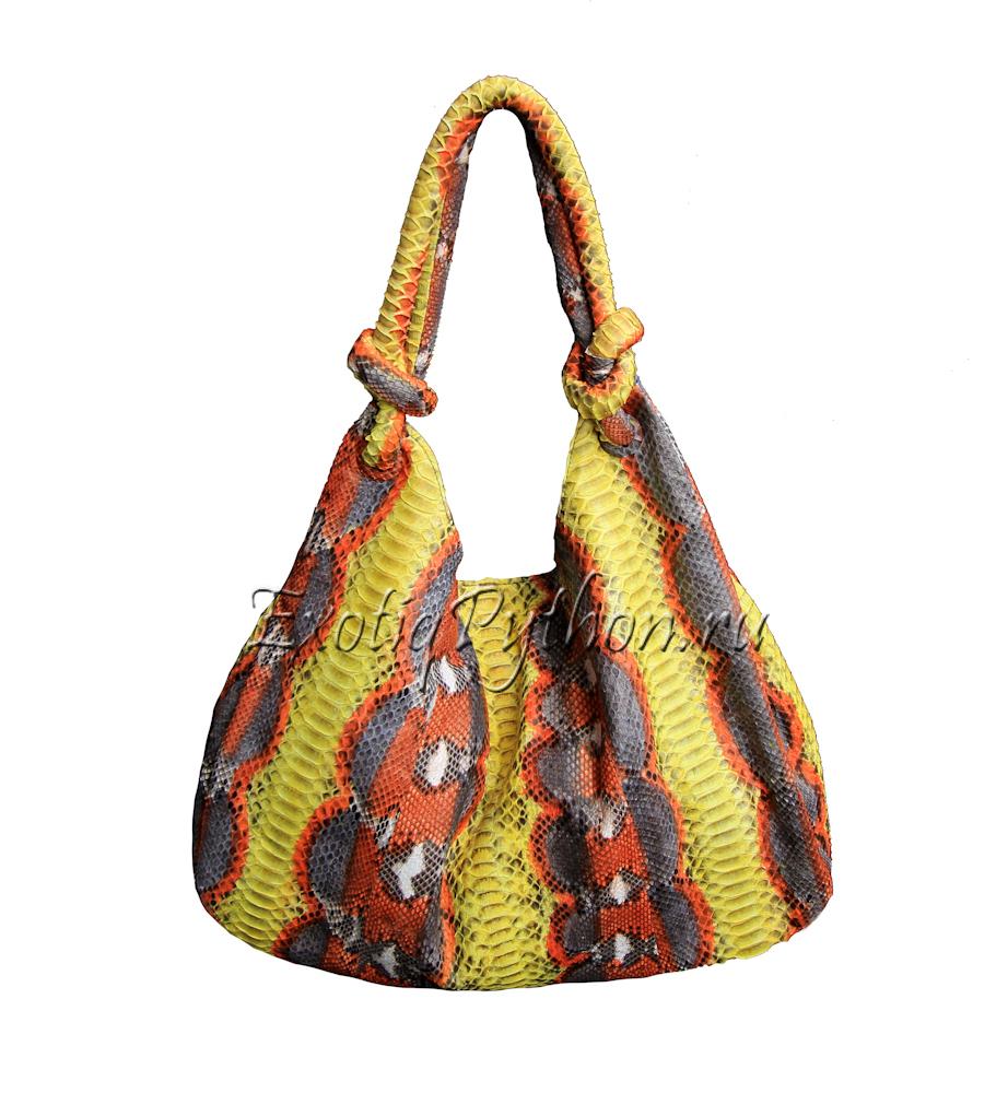 Женские сумки из кожи питона Итальянские брендовые сумки