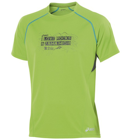 Беговая футболка Asics M'S TRAIL GRAPHIC TOP лайм