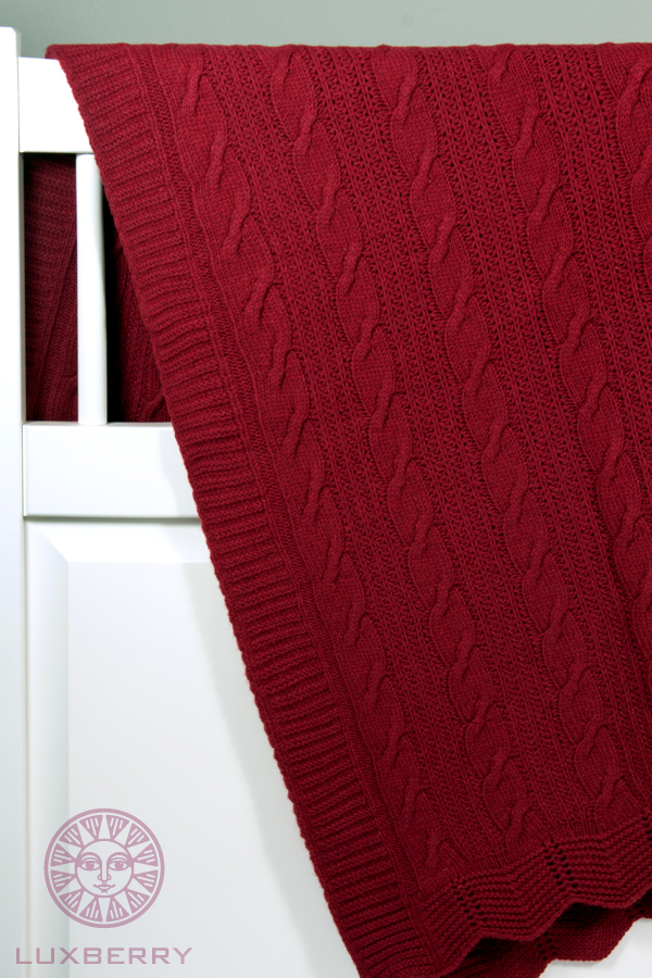 Плед-покрывало 150х200 Luxberry Imperio 66 бордовый