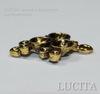 Сеттинг - основа - подвеска для страз (цвет - античное золото) 23х17х4 мм ()