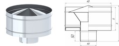 Дефлектор TMF ф115, 0,5мм нерж
