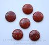 Кабошон круглый Яшма красная 25 мм