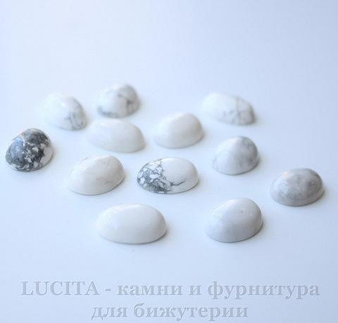 Кабошон овальный Говлит белый, 18х13 мм