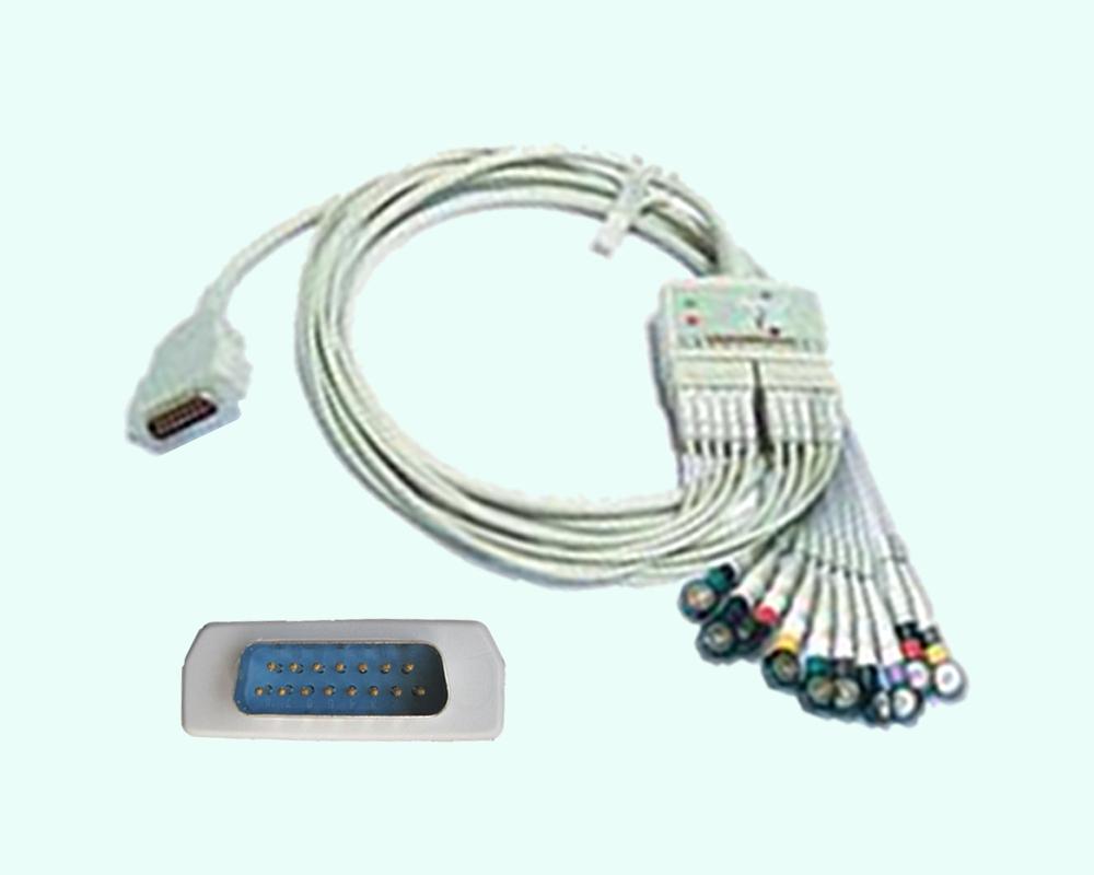 Кабель ЭКГ MAC-800/MAC-1200ST, 10 отведений, стресс-тест