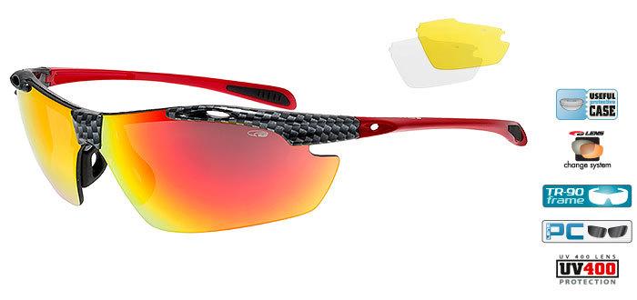 Спортивные очки goggle RAVEN race black/red