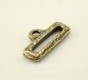 Концевик для плоского шнура TierraCast (цвет-античная латунь) 19х10 мм