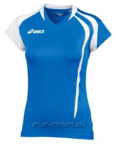 Asics T-Shirt Fanny Lady футболка волейбольная женская синяя