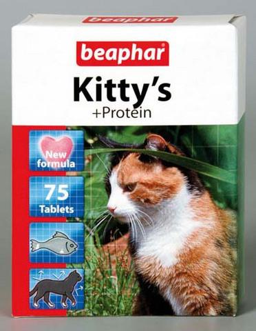 12510 Беафар Витамин Китти Рыбки Протеин д/кошек 75таб.*12*144