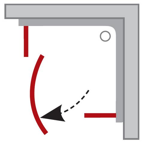 Ravak PIVOT PSKK3-90 душевой уголок полукруглый 90см (37677U00Z1, 37677100Z1)