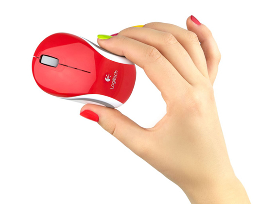 LOGITECH M187 Wireless Mini Red