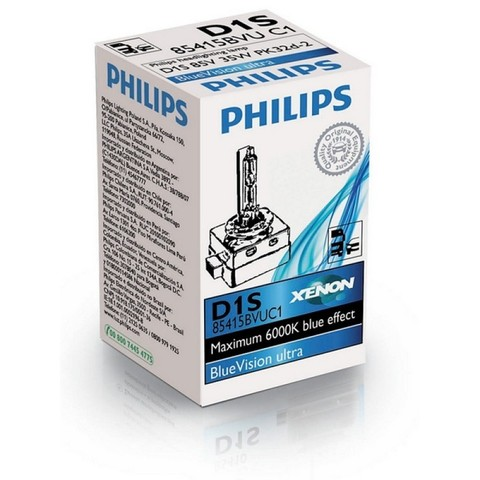 Лампа ксенон D1S (6000К) Philips BlueVision Ultra (картон)