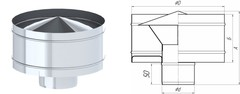 Дефлектор TMF ф140, 0,5мм нерж