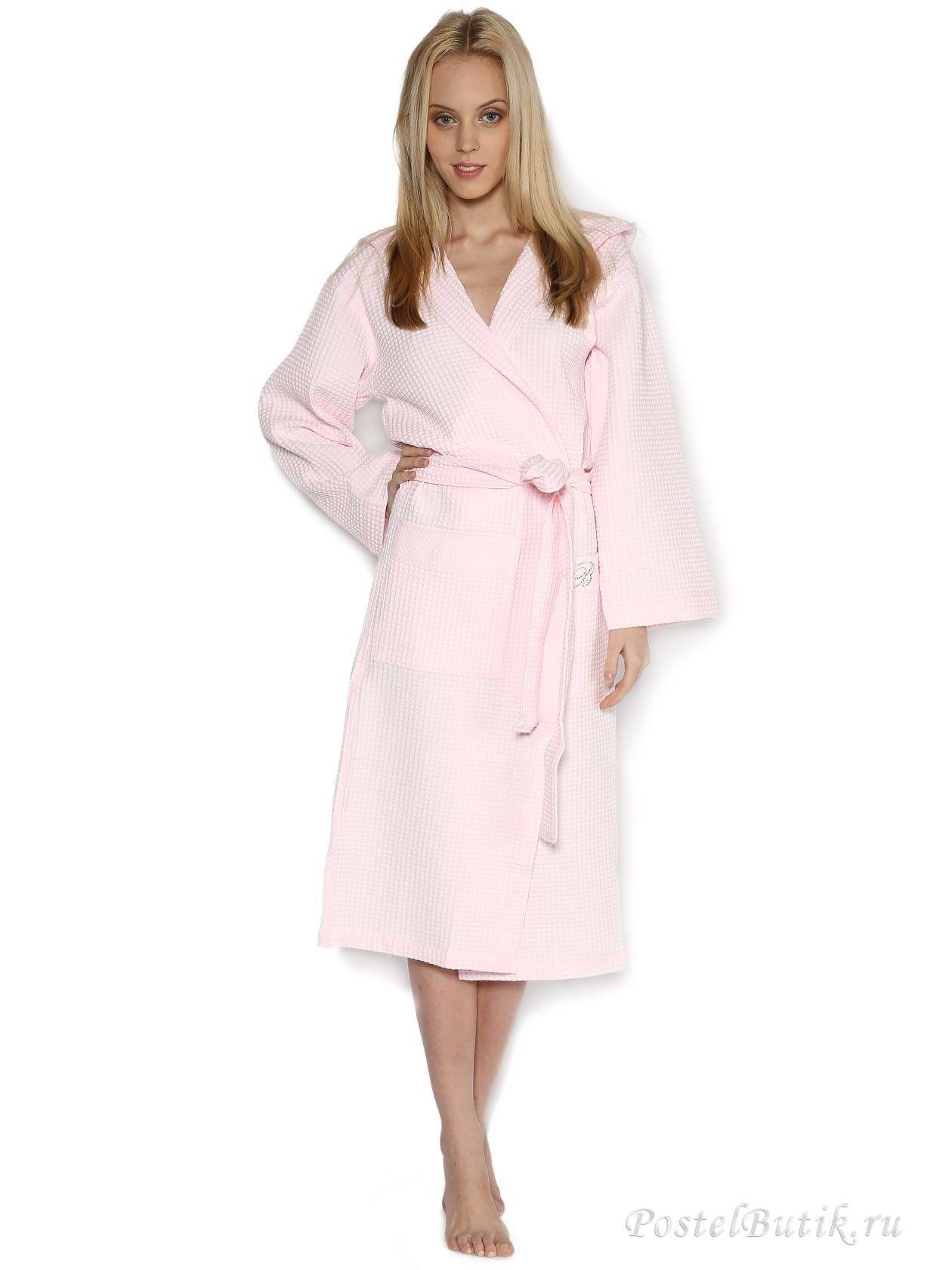 Элитный халат вафельный St. Tropez розовый от Blumarine