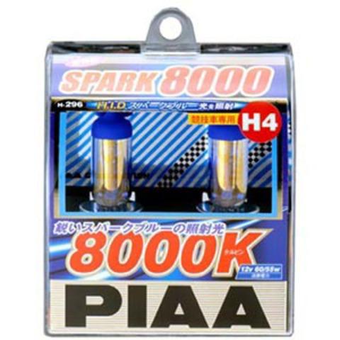 Галогенные лампы PIAA H4 H-296 (8000K) Spark