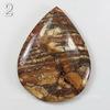 Подвеска Яшма Шкура леопарда, цвет - коричневый (№2 (55х42 мм)(ЦАРАПИНА/СКОЛ))