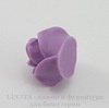 """Кабошон акриловый """"Роза"""", цвет фиолетовый, 18 мм"""