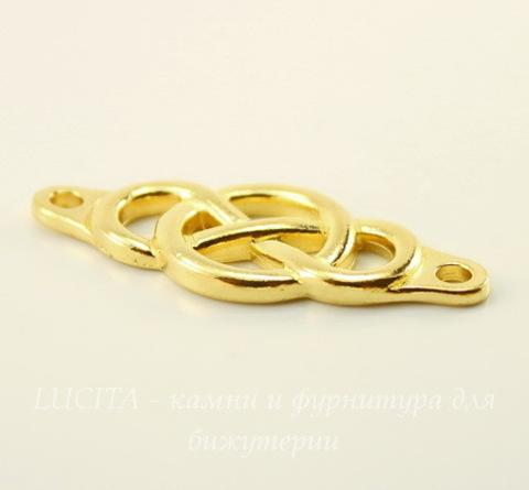 """Коннектор TierraCast """"Infinity Сenterpiece"""" (1-1) 35х15 мм (цвет-золото)"""