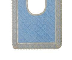 Элитный коврик для унитаза Buratto голубой от Old Florence