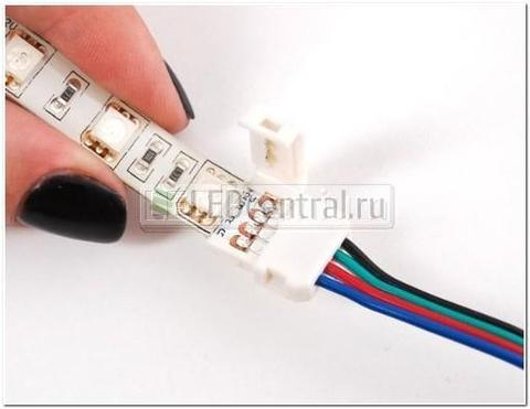 Коннектор выводной LED CN-RGB-02 (10mm, провод 15cm)