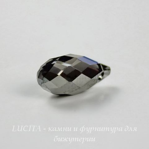 6010 Подвеска Сваровски Drop Crystal Silver Night (13х6,5 мм) ()