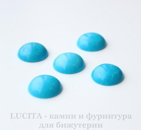 Кабошон круглый Говлит голубой (тониров), 14 мм