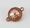 """Сеттинг - основа - коннектор TierraCast """"Узор"""" (1-1) для страза 12 мм (цвет-античная медь)"""