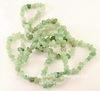 Бусина Авантюрин, крошка, цвет - зеленый, 6-13 мм, нить 88 см