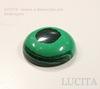 Кабошон круглый Малахит (искусств) 20х6 мм ()