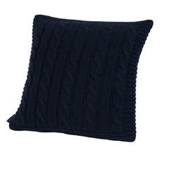 Элитная подушка декоративная Boston темно-синяя от Casual Avenue