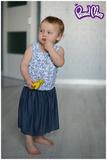 Юбочка детская синий джинс