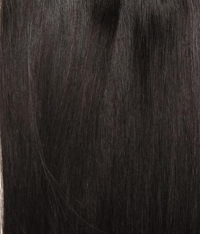 Накладка Magic Strands. Длина 52 см  -Оттенок 1B-Темно коричневый с черным отливом