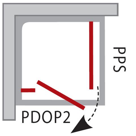 Ravak PIVOT Боковая душевая стенка PPS-90 (90G70U00Z1)