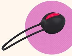 Силиконовый вагинальный шарик со смещенным центром тяжести Smartballs Uno (d. 3,6 см.; вес 36 гр)