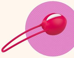 Силиконовый вагинальный шарик со смещенным центром тяжести Smartballs Uno (d.3,6 см.; вес 36 гр)