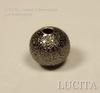 """Бусина """"Сахарный шарик"""" 6 мм (цвет - черный никель), 10 штук ()"""