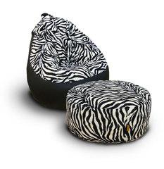 Комплект кресло груша Мадагаскар и пуф остров