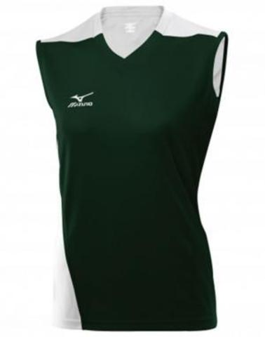Футболка Mizuno W's Trade Sleeveless 361 green волейбольная