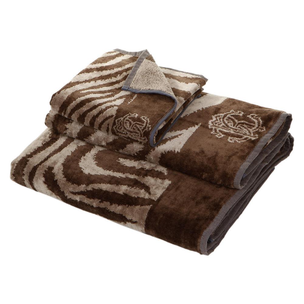 Наборы полотенец Набор полотенец 2 шт Roberto Cavalli Zebra светло-коричневый nabor-italyanskih-polotenec-Zebra-ot-Roberto-Cavalli-4.jpg