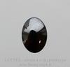 Кабошон овальный Гематит глянцевый черный, 18х13 мм