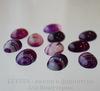 Кабошон овальный Агат фиолетовый с белыми полосками 18х13х7 мм ()