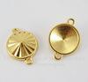 """Сеттинг - основа - коннектор TierraCast """"Грани"""" (1-1) для страза 18 мм (цвет-золото)"""