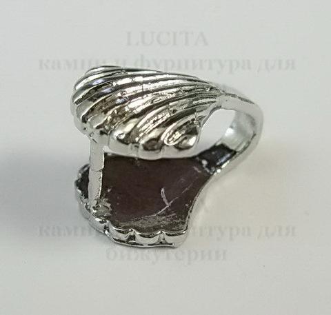 """Держатель для кулона """"Ракушка"""" 15х12 мм (цвет -  платина) ()"""