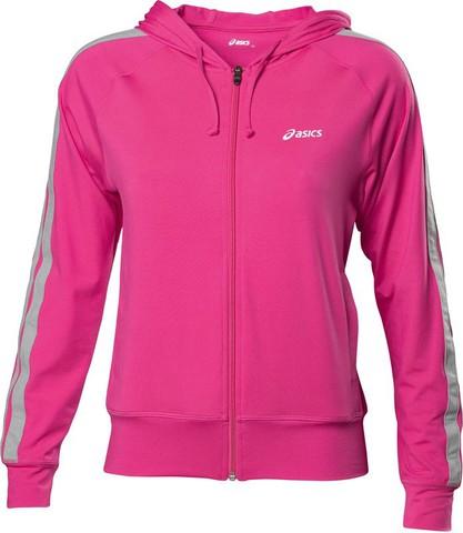 Толстовка Asics Jersey Warm Up Jacket женская розовая