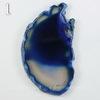 Подвеска Срез Агата, цвет - темно-синий (№1 (73х42 мм)(ЦАРАПИНА))