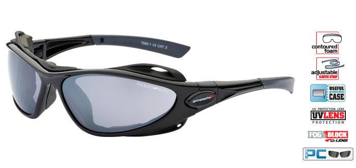 Спортивные солнцезащитные очки goggle AYURA black